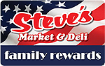 Steve's Market & Deli Family Rewards Card